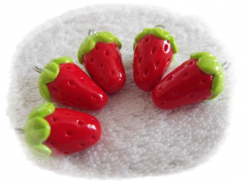 fraise,fimo,rouge,fruit